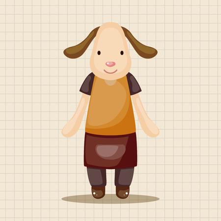 waiter: animal dog waiter cartoon theme elements