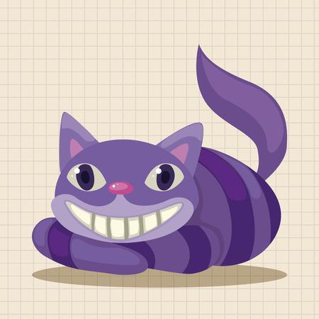 cheshire cat: alice in wonderland theme elements