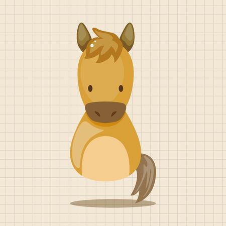 year of snake: Chinese Zodiac horse theme elements Illustration
