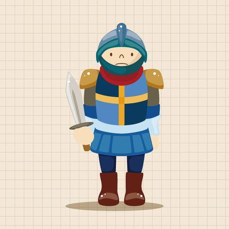 chess knight: knight theme elements