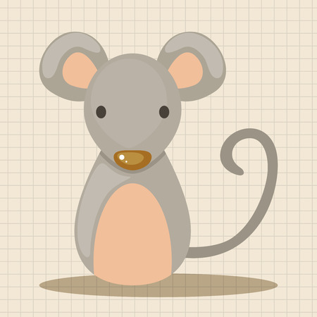 year of snake: Chinese Zodiac rat theme elements Illustration