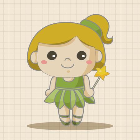genie woman: fairytale princess theme elements Illustration