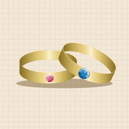 diamond rings: diamond ring theme elements