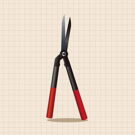 raking: garden shears theme elements