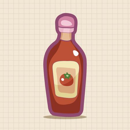 sauce bottle: kitchenware sauce bottle theme elements