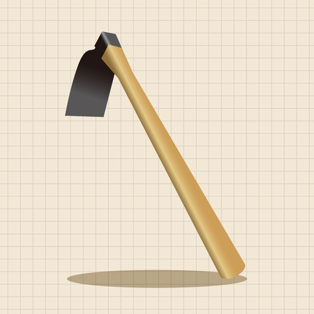 raking: gardening shovel theme elements Illustration