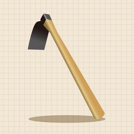 hand shovels: gardening shovel theme elements Illustration