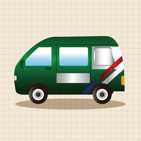 post office: transportation theme Post Office car elements vector,eps