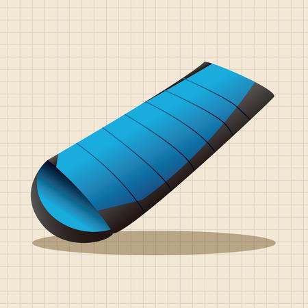 sleeping bags: camping sleeping bag theme elements