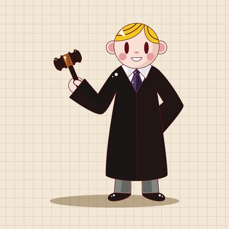 lawyer court: judge theme elements