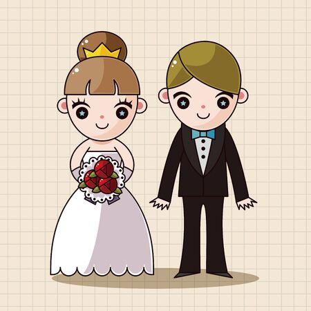 husband and wife: wedding couple theme elements vector,eps
