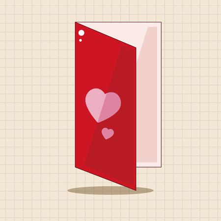 love letter: amar a los elementos temáticos de la letra Vectores