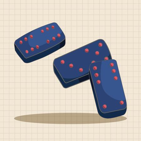 vegas sign: casino dice theme elements Illustration