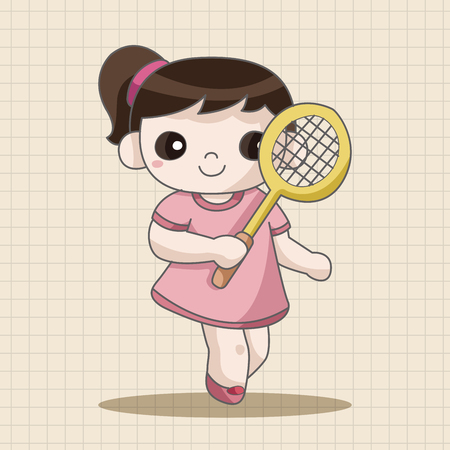 badminton: badminton player theme elements