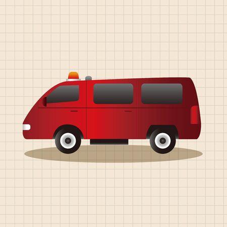 firetruck: transportation theme firetruck elements vector,eps