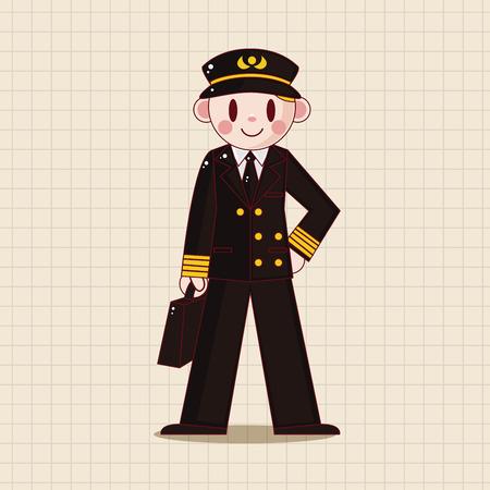 captain: flight captain theme elements