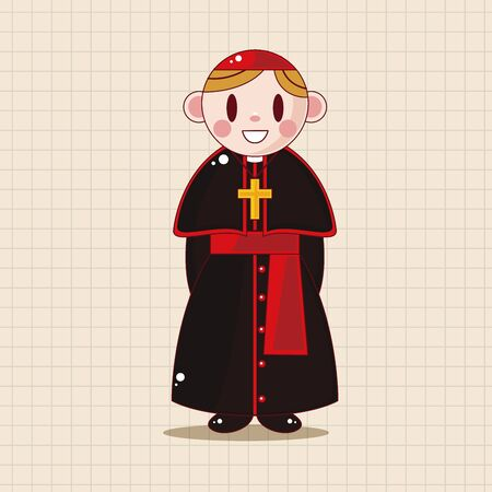 the catholic church: pastor and nun theme elements