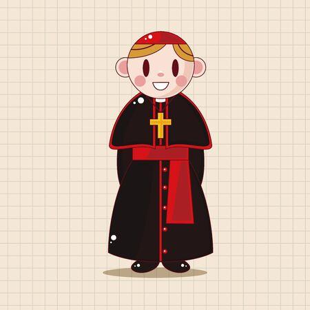 pastore e nun elementi tematici Vettoriali