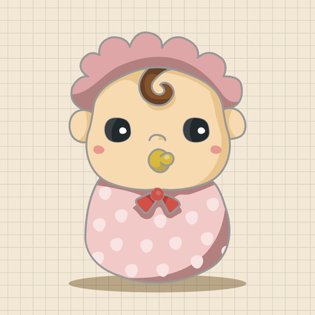 baby boy birth: person character baby theme elements