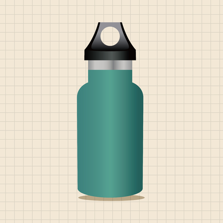 water theme: camping water bottle theme elements