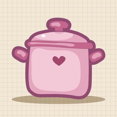 stew pot: kitchenware pot theme elements