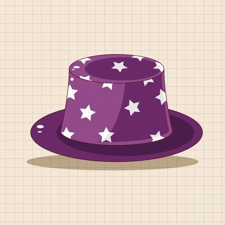 fun background: Birthday hat theme elements Illustration