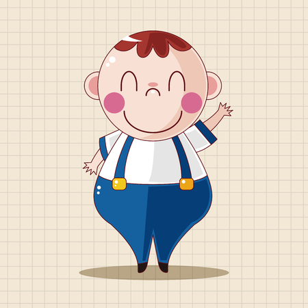 upset man: fatty theme elements