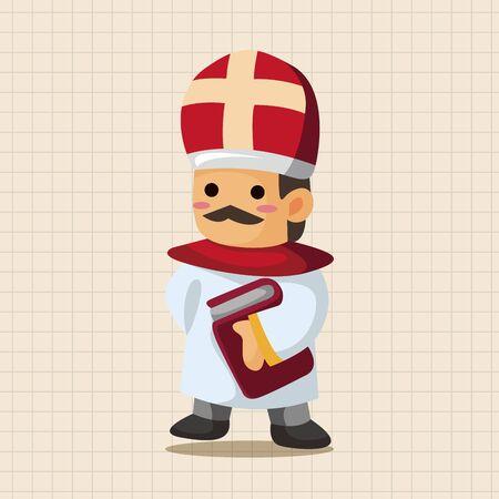 religion catolica: Elementos del tema de pastor y monja