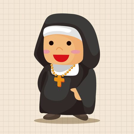 catholicism: pastor and nun theme elements