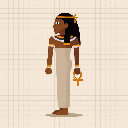 egyptian culture: pharaoh theme elements Illustration