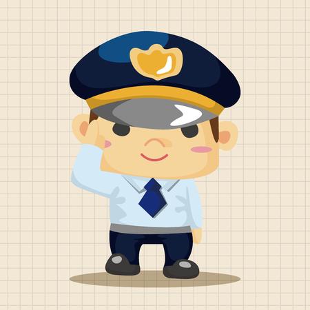 gorra polic�a: policeman theme elements