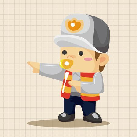 police icon: policeman theme elements
