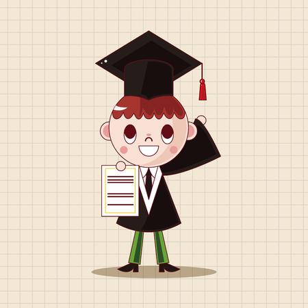 graduacion caricatura: graduate student theme elements