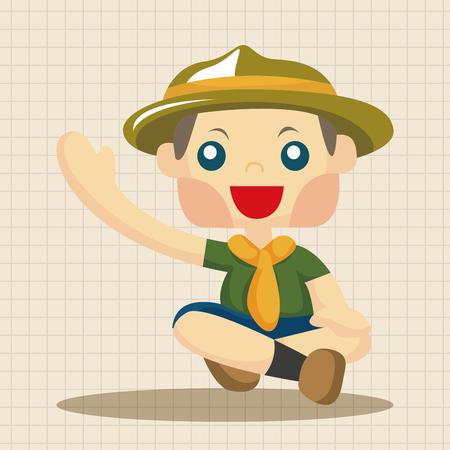 boy scouts tent: scout theme elements