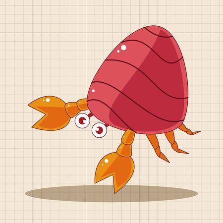 hermit crabs: Hermit crabs theme elements