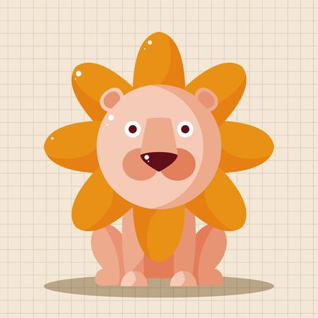 lion dessin: �l�ments de th�me de bande dessin�e de lion animaux