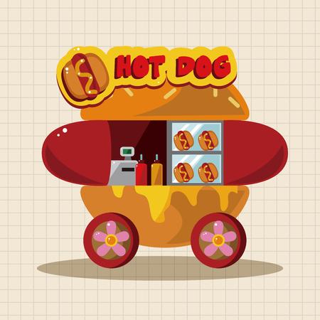 vendors: style dining car theme elements