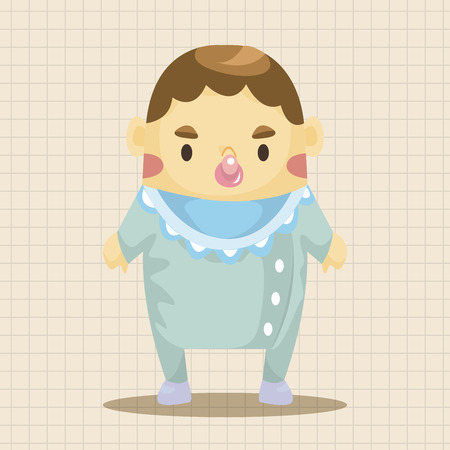 cute kids: person character baby theme elements