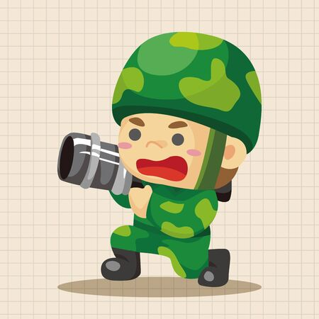 military and war icons: people theme soldier elements