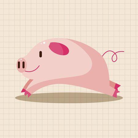 pig cartoon: animal pig cartoon theme elements