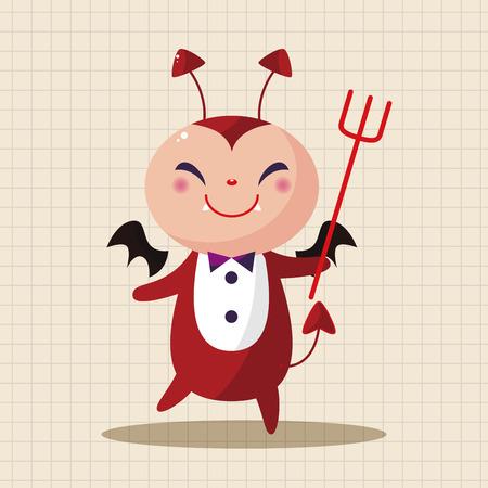 red devil: devil theme elements