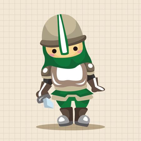 soldat silhouette: knight theme elements