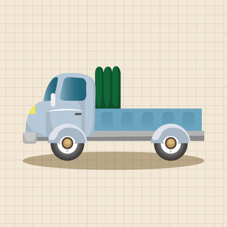 fast driving: truck theme elements