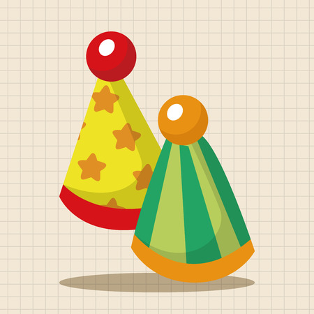 props: circus performance props theme elements Illustration