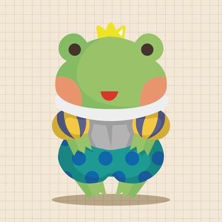 froggy: frog prince theme elements Illustration