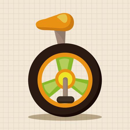 unicycle: circus unicycle theme elements