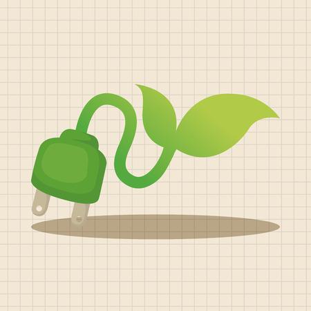 proteccion: Elementos temáticos concepto de protección del medio ambiente; El ahorro de energía para proteger nuestro medio ambiente Vectores