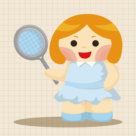 tennis player: tennis player theme elements