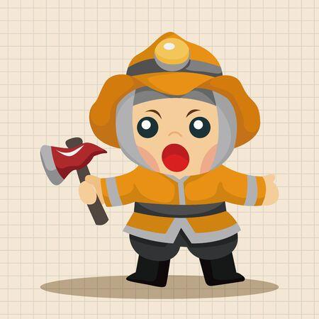 fire hoses: fireman theme elements Illustration