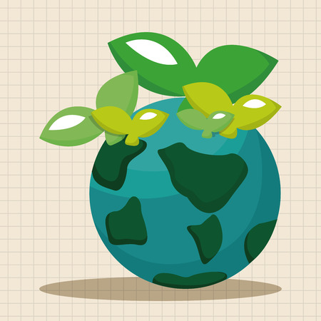 protection icon: Environmental protection concept theme elements; Protect our environment, protect our planet Illustration